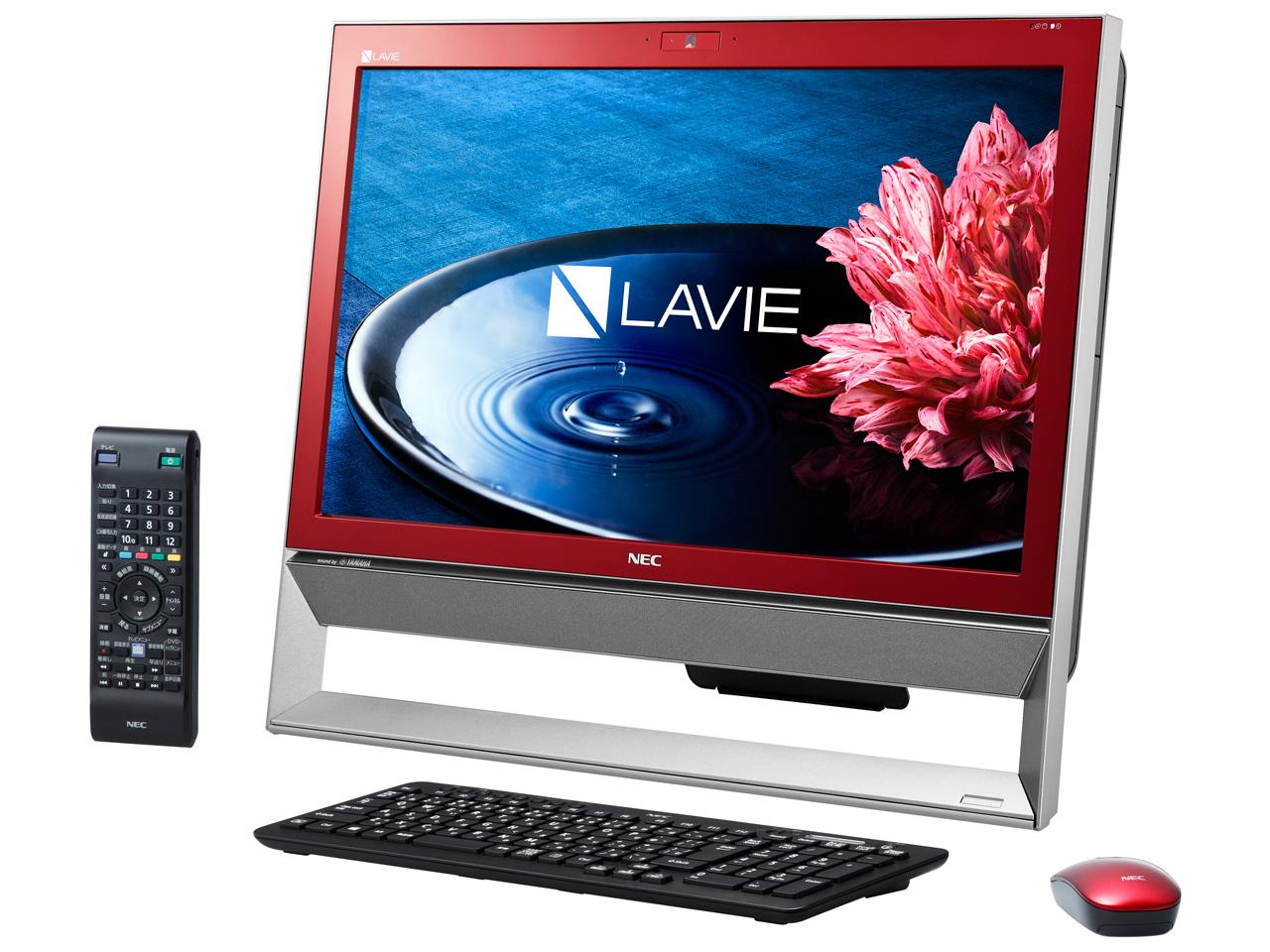 LAVIE Desk All-in-one DA370/BAR PC-DA370BAR [クランベリーレッド]