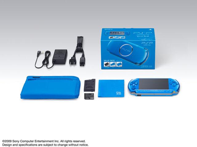 PSP プレイステーション・ポータブル バリューパック バイブラント・ブルー PSPJ-30011
