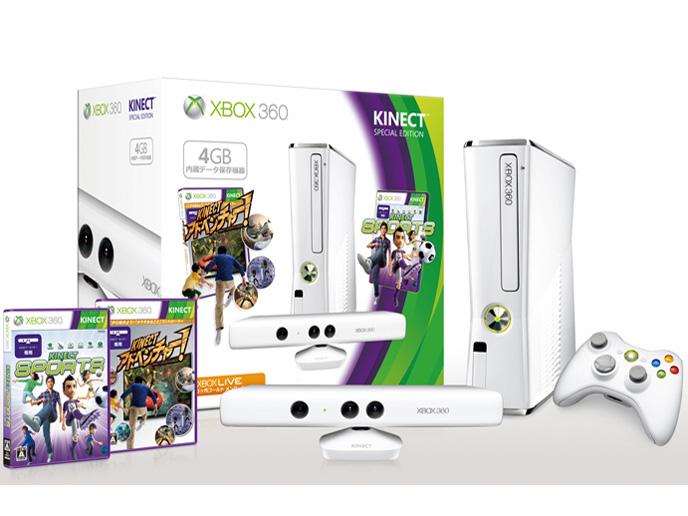 Xbox 360 4GB + Kinect スペシャル エディション [ピュア ホワイト]